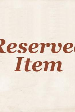 This is a reserved Item