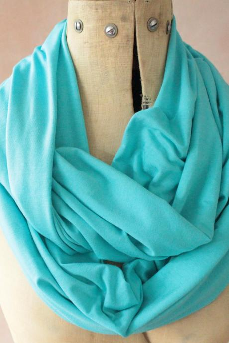 Infinity scarf - Snood, Eternity scarf, Circle scarf, Jersey scarf, Tube scarf, Loop scarf, Snood, T-Shirt scarf - Cobalt Blue
