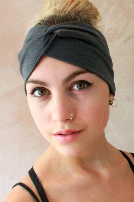Workout headband -Turban Headband, Yoga Headband, Turban Twist, Exercise headband, Boho Headband, Hippie Headband
