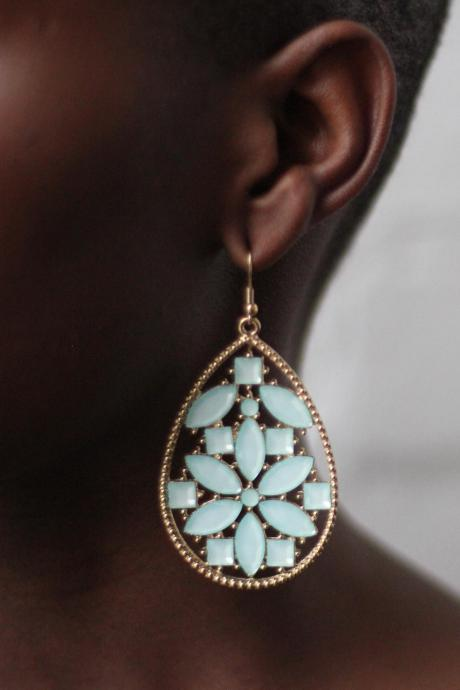 Mint Green Drop Earrings Fashion Earrings