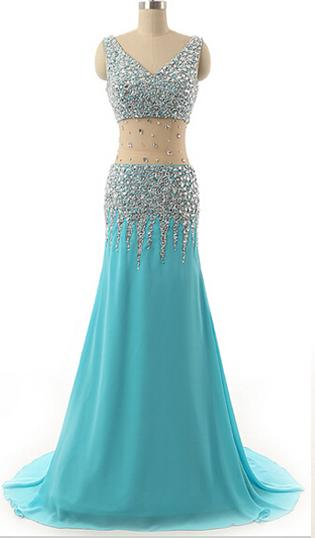 Long prom dress, blue prom dress, v-neck prom dress, sexy prom dress, sparkly prom dress, off shoulder prom dress, inexpensive prom dress, modest prom dress