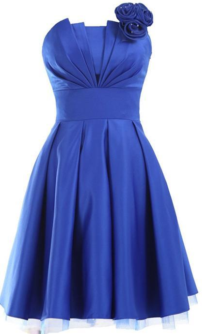 Royal Blue Bridesmaid Dresses,Short Bridesmaid Gown,Summer Bridesmaid Gowns,Beach Bridesmaid Dress,Royal Blue Bridesmaid Gown,Fall Bridesmaid Dress For Modest Brides